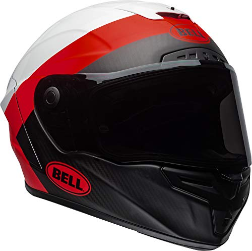 Bell Race Star Full-Face Motorcycle Helmet (Surge Matte/Gloss White/Red, Large)