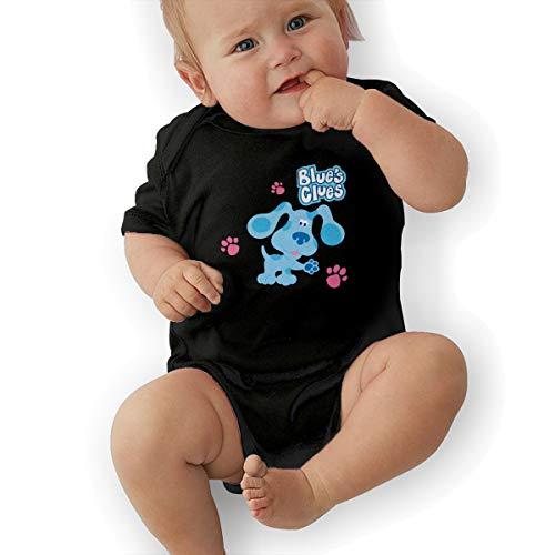 (LuckyTagy Blue's Clues Dog Unisex Particular Boys & Girls Romper Baby BoyOutfits 45 Black )