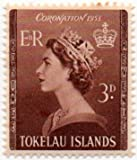 Tokelau Islands Postage Stamp Single 1953 Queen Elizabeth II Coronation Issue 3 D Scott #4