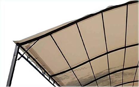 TOLDO PVC BLANCO COBERTURA PERGOLA CM, 400 X 300: Amazon.es ...