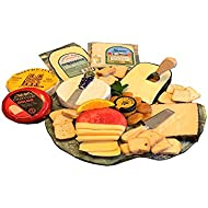 Gourmet Cheese Sampler - Cheese Cracker 2 LB. Assortment - 4 Cheeses, Spread & Crackers