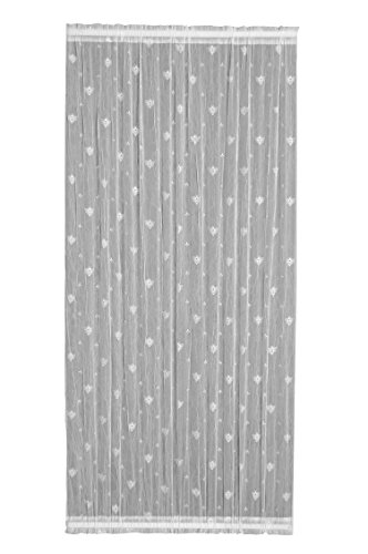 Heritage Lace Bee Door Panel, 45 by 72-Inch, White -