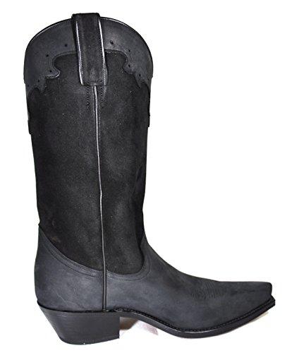 Tony Mora Cowboy Boots Damen Cowboystiefel Nubuk Serraje Negro
