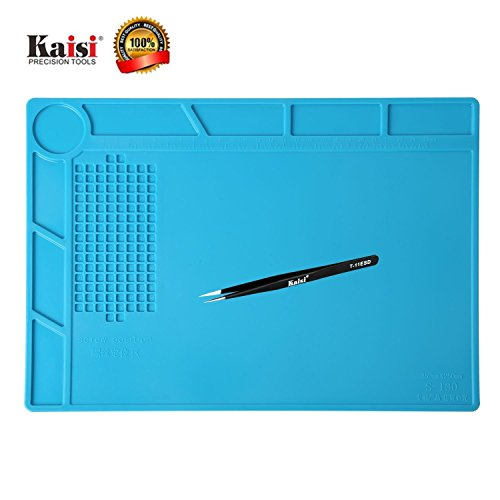 Heat Resistant Soldering Silicone Mat Repair Insulation Pad Screw Tray Maintenance Platform Work Mat Phone Repair tools for Soldering Iron Station, Phone Repair Computer Repair Watch Repair by Kaisiking (Image #7)