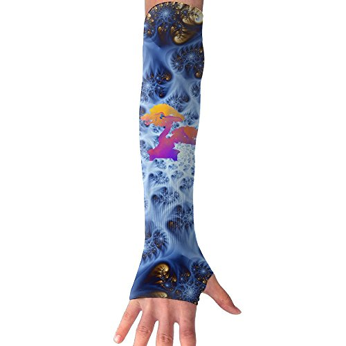 - FTHX Wtercolor Japanese Bonsai Tree Womens Super Long Fingerless Anti-uv Sun Protection Golf Driving Sports Arm Sun Sleeves Gloves For Cycling Cooling Sleeve