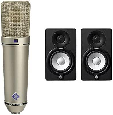 Neumann U 87 Ai Switchable Studio Microphone, 3 Directional - Nickel + Yamaha HS5 (Pair)