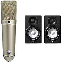 Neumann U 87 Ai Switchable Studio Microphone, 3 Directional - Nickel + Yamaha HS5 (Pair)