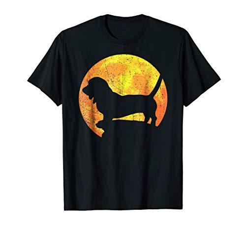 BASSET HOUND MIX Orange Halloween Costume Vintage T-shirt -