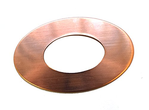 RMP Stamping Blanks, 1.829 Inch Oval Washer with 0.921 Inch Center, 16 oz. Copper 0.021 Inch (24 Ga.) - 10 - Washer Stamping