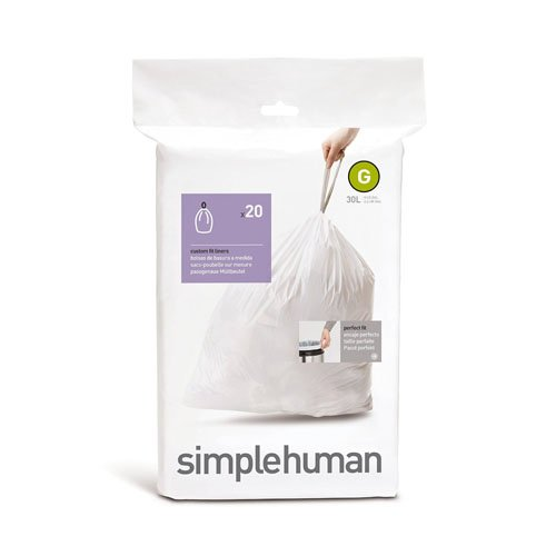 Simplehuman CW0166 Custom-Fit Can Liner G (Simplehuman Can Liners G compare prices)