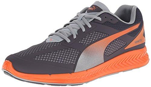 PUMA Mens Ignite Mesh Running Shoe Periscope/Quarry/Vermillion Orange