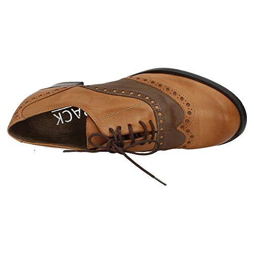 Aback Cuero Zapatos 643 I18 Tacón Mujer Cordón wqCRFw