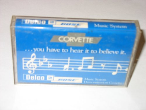 Corvette Delco Bose Music Demonstration Cassette