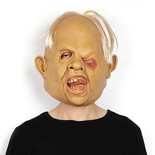 Modern Dr Strange Costume (Halloween Mask Creepy Scary Ugly Baby Head the Goonies Sloth Party Costume)