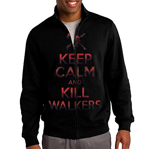 Men's Keep Calm And Kill Walkers Full-Zip Fleece Jacket M