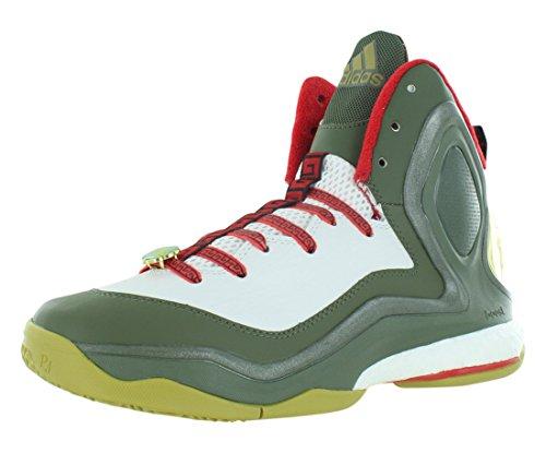 adidas Performance Men's D Rose 5 Boost Basketball Shoe, Dark Base Green, 10 M US D ROSE 5 BOOST-M