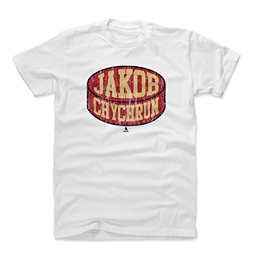 500 LEVEL Jakob Chychrun Cotton Shirt Large White - Arizona Coyotes Men's Apparel - Jakob Chychrun Arizona Puck R ()