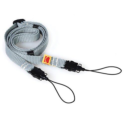 Kodak Printomatic Camera Neck Strap (Grey) – Adjustable, Convenient, Practical – The Easiest Way to Capture Every Kodak Moment