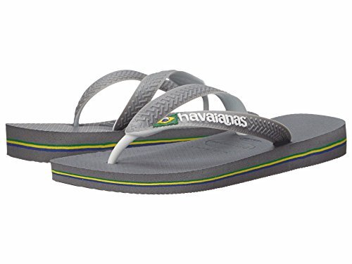 - Havaianas Mens Brazil Mix Sandal Steel Grey/White/White, Steel Grey/White/White, 45/46