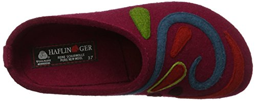 Port Adulto Jette Grizzly Rosso Unisex Haflinger Pantofole 33 – PxgWZX06