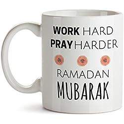 Ramadan Mug - Ramadan Mubarak - Islamic gifts - Ramadan Gifts - Islamic Mug - Arabic Gifts - Eid Gifts - Work Hard Pray Harder