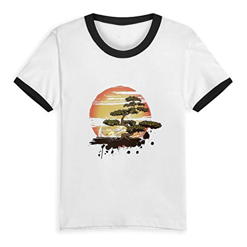 Bonsai Tree Karate Dojo Little Girls' Short Sleeve Tee Kids Short T Shirts 4T -