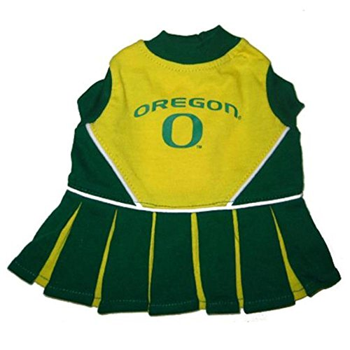 [OREGON DUCKS ★ CHEERLEADER DOG DRESS OUTFIT ★ ALL SIZES ★ LICENSED NCAA (S)] (Duck Costumes For Dog)