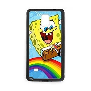 J1Q77 Bob Esponja S5P8VQ funda Samsung Galaxy Note Funda caja del teléfono celular 4 cubren PT4SKK7WV negro