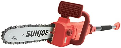 Sun Joe SWJ807E-Red-RM 전기 컨버터블 폴 체인 톱 | 25.4cm | 8.0 앰프 (인증 리퍼비시 레드) / Sun Joe SWJ807E-Red-RM 전기 컨버터블 폴 체인 톱 | 25.4cm | 8.0 앰프 (인증 리퍼비시 레드)
