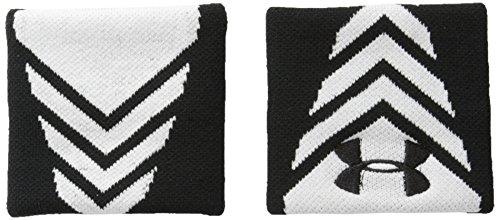 Under Armour Men's Undeniable Wristband, White (100)/Black, One Size ()