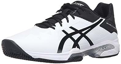 ASICS Men's Gel-Solution Speed 3 Clay Tennis Shoe, White/Black/Silver, 6 M US