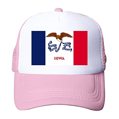 Heiazha Hipster Printed Adult Cap,Iowa Flag Mesh Fitted Hats Snapback Cap for Men Women -