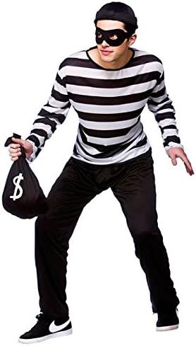 Wicked Costumes Disfraz de ladrón de tamaño Adulto Medium (37-40 ...