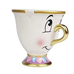 Disney Beauty and the Beast Chip Mug Despite his imperfections, Chip is perfectly cute as shown in this mug featuring the Beauty and the Beast character. Detailed with raised features, the ceramic cup includes the flaw that inspired his name....