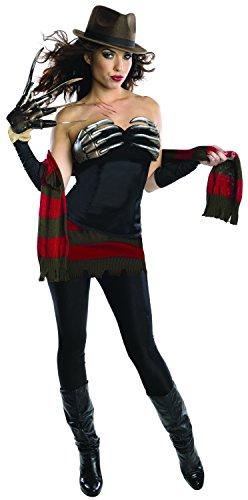 Secret Wishes Women's Nightmare On Elm Street Freddy Corset Style Costume, Multi, -