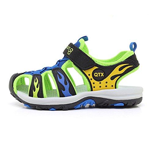 LILY999 Unisex Kinderschuhe Sommer Strand Klettverschluss Geschlossene Sandalen Jungen Mädchen Ultraleicht Breathable Flach Schuhe Blau