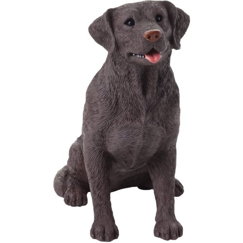 Sandicast Figurine (Sandicast Mid Size Chocolate Labrador Retriever Sculpture, Sitting)