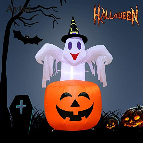 Fairy-Margot 14287cm Halloween Inflatable Pumpkin DIY Halloween Decorations Outdoor Scary Halloween Inflatable Blow in Pumpkin -