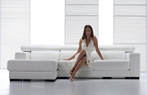 Sofa Stil Damen, Leder geschliffen Divano 3 posti - 230x70/98x100cm Pelle Smerigliata Rosa Chiaro