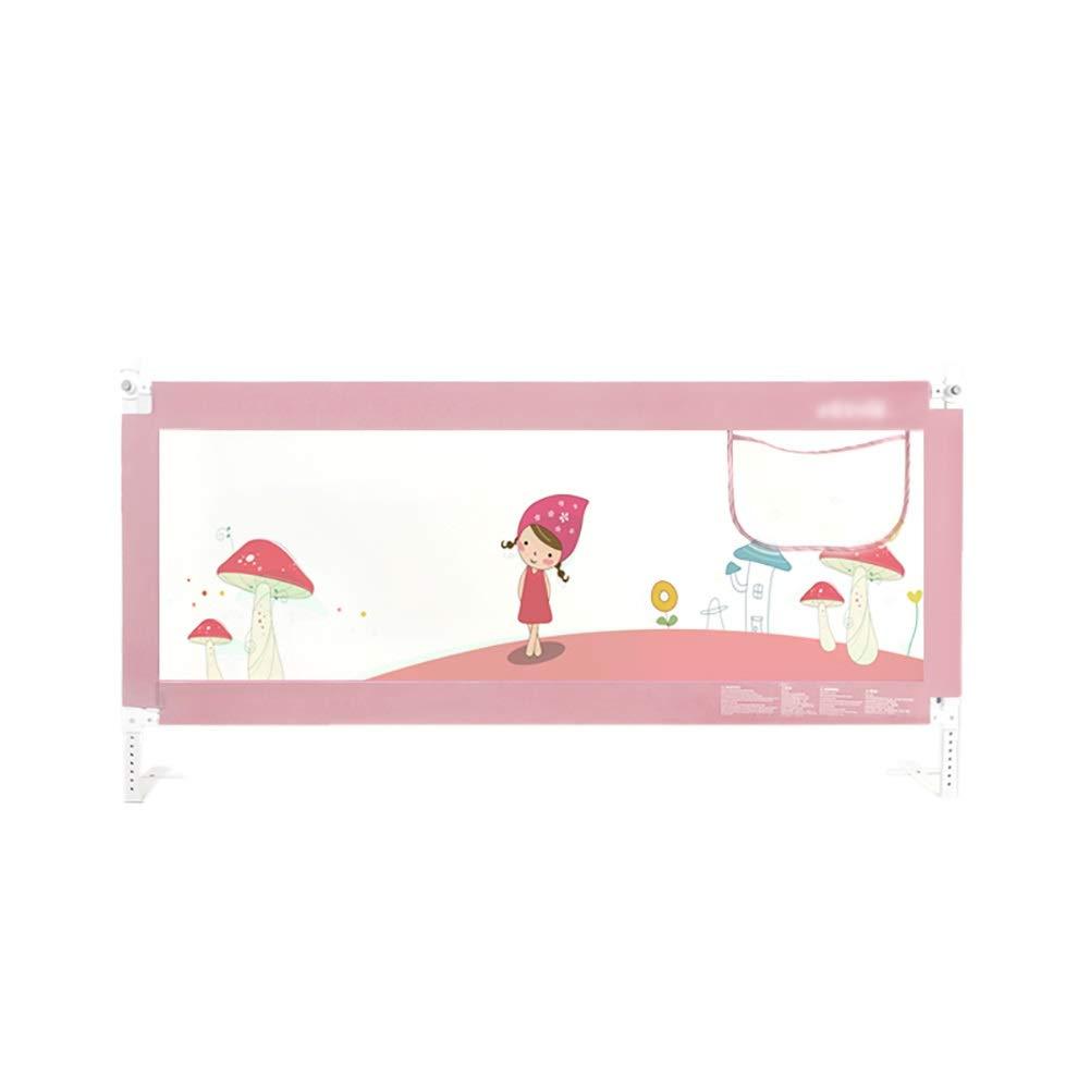 ベッドフェンス セーフティベッドレール、ダブル、フルサイズベッドガード、幼児の赤ちゃんと子供のための、メタルフレーム、ピンク (サイズ さいず : Length 180cm) Length 180cm  B07NVBZZDT