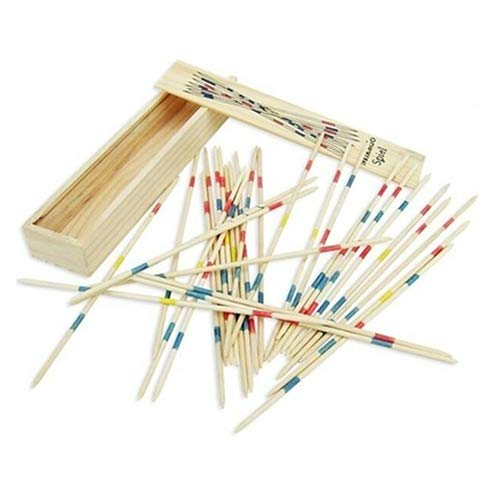 Ameesi Pick Up Sticks with Box Traditional Game Family Educational Toys Early Development Classic -