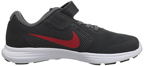 NIKE Kids' Revolution 3 (Psv) Running-Shoes, Black/University Red/Dark Grey, 1 M US Little Kid by Nike (Image #7)