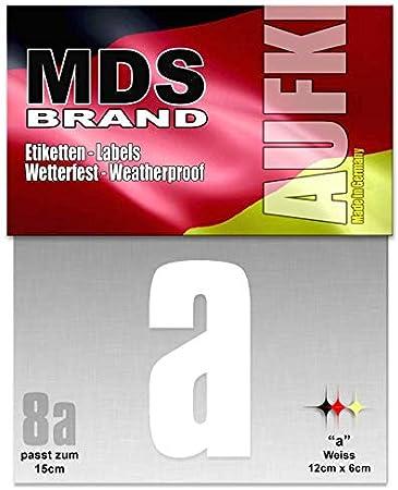 8cm Zahlen 0-9 Pack Selbstklebend Aufkleber Ersatzziffern Weiss 0-9 Pack