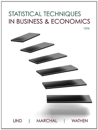 Loose Leaf Statistical Techniques in Business & Economics with Connect Access Card
