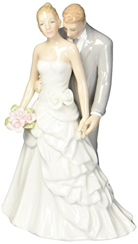 Cosmos 96667 Fine Porcelain Bride and Groom Figurine, 5-3/4-Inch