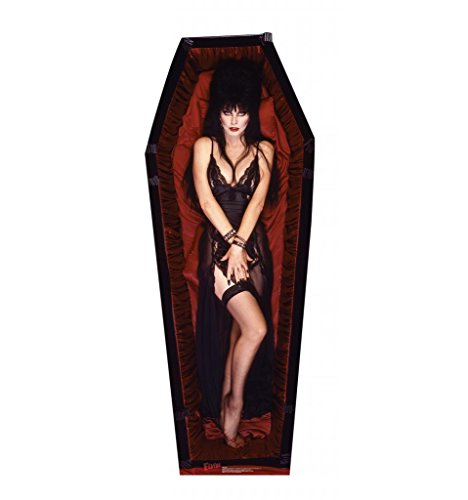 Elvira Coffin Life Size Cardboard Standup