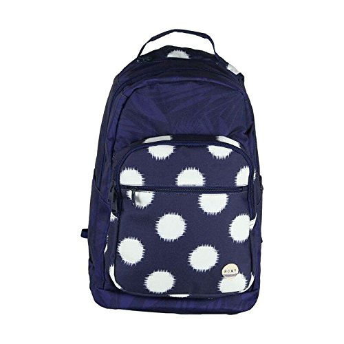 Roxy Junior's Grand Thoughts Polyester Backpack, Ikat Dots Combo Peacoat, One Size (Backpack Laptop Roxy)