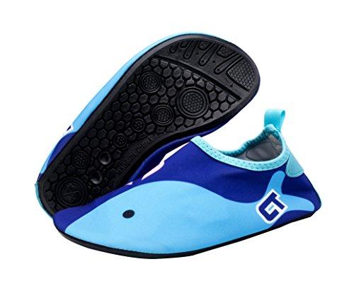 Giotto Wassersport Barefoot Aerobic Schuhe Leichte Quick-Dry Aqua Socken für Beach Pool Swim Yoga A2-Marine