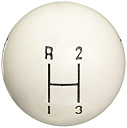 Hurst 1637624 White 3-Speed Replacement Shifter Knob
