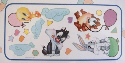 Baby Looney Tunes Balloon Fun Jumbo Wall Sticker (Bugs Looney Baby Tunes)